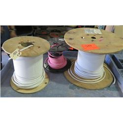 Qty 3 Spools #4 Wire - 2 White/1 Red