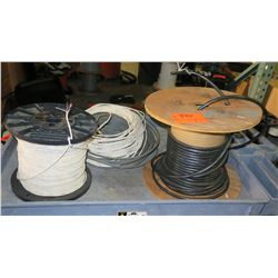 Qty 2 Spools & Loose Coils of Wire