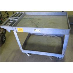 Rolling 2-Tier Utility Service Cart
