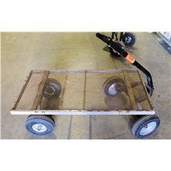 Metal 4 Wheel Mesh Wire Platform Dolly Pull Truck