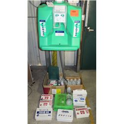 The Safety Director' Eye Wash Station & Multiple First Aid Kits & Supplies