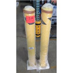 Qty 2 Temporary Portable Safety Bollards