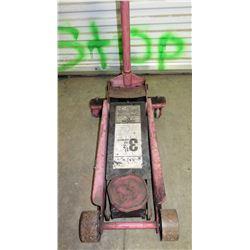 Professional Red Hydraulic Floor Jack 3-1/2 Ton Capacity