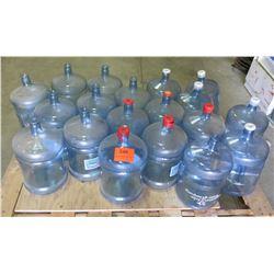 Qty 19 Large Plastic Water Bottles for Dispenser