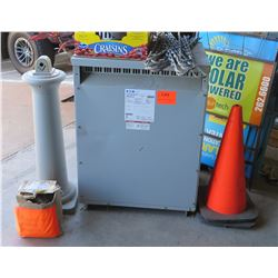 Eaton Dry Type Distribution Transformer, Traffic Cones, Yard Signs, etc