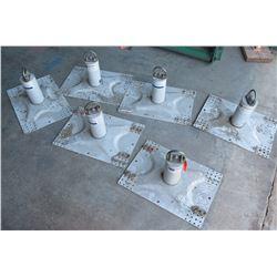 Qty 6 DBI Sala Metal Plate Anchors