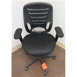 Rolling Office Armchair w/ Mesh Back