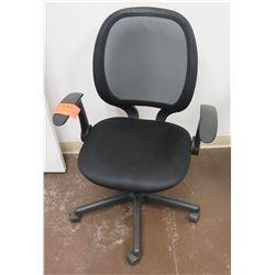 Rolling Office Armchair w/ Mesh Back
