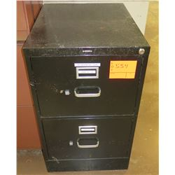 Brown Metal 2 Drawer File Cabinet