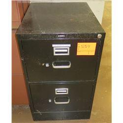 Brown Metal 2 Drawer File Cabinet