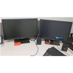 Qty 2 Dell LCD Computer Monitors