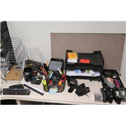 Misc. Office Supplies: Staplers, Hole Punchers, Organizer Trays, Organizers, Tape Dispensers