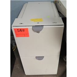 Beige 2 Drawer File Cabinet
