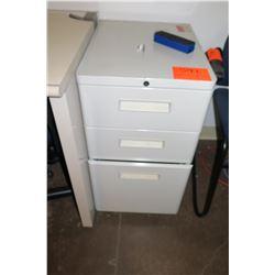 Beige 3-Drawer File Cabinet
