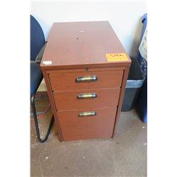 Brown 3-Drawer File Cabinet