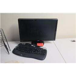 Computer Monitor and Keyboard