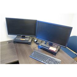 Qty Computer Monitors with Keyboard