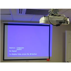 Epson EX31 Projector & ES Elite Screens Wall Mount Screen