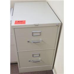 Beige Metal 2 Drawer File Cabinet