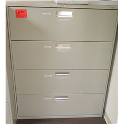 Beige Metal 4-Drawer Lateral File Cabinet
