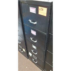 Black Metal 4-Drawer File Cabinet