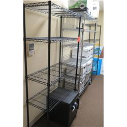 Qty 3 Black Metal Wire 4-Tier Adjustable Shelves