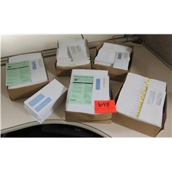 Qty 5 Boxes Intuit Window Envelopes