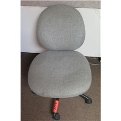 Rolling Gray Upholstered Office Swivel Chair