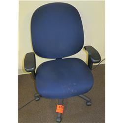 Rolling Upholstered Office Arm Chair