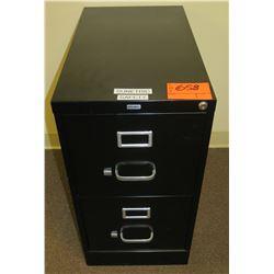 Black Metal 2 Drawer File Cabinet
