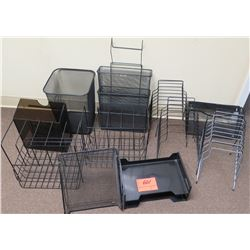 Office Supplies: Metal & Plastic Sorters, etc