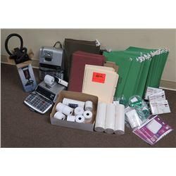 Office Supplies: Intex Air Pumps, Calculators, Hanging & File Folders, etc