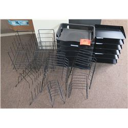 Multiple Metal & Plastic Office Desk Organizers, Sorters, Racks