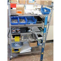 Shelf & Contents: Bins Hardware, Level, DIN Rail Power Supply, etc