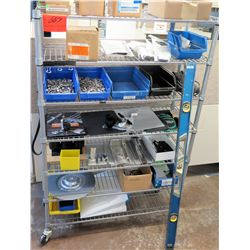 Shelf & Contents: Bins Hardware, Level, DIN Rail Power Supply, etc