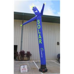 Nflate Co Blue Inflatable Tube Solar Air Dancer