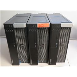 Qty 3 Dell Precision T3600 Computer Workstation Towers (no hard drive)