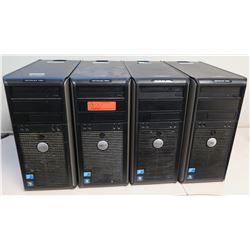 Qty 4 Dell OptiPlex 380/780 Computer Towers (no hard drive)
