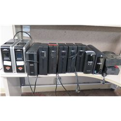 Qty 12 Tower Battery Back-Ups: CyberPower 1350AVR, Tripp-Lite, etc