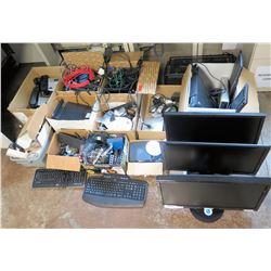 Misc Electronics: Computer  Monitors, Keyboards, Phones, Cords, etc
