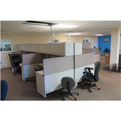 Approx 25 Office Cubical Desks -(Buyer Responsible For Disassembly & Removal)