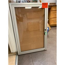 """Wall-Mount Corkboard with Lockable Door 36"""" H x 24"""" W x 2"""" D"""