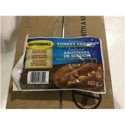 Case of Butterball Turkey Franks (12 x 450g)
