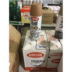 Case of Krylon Dual Superbond Paint and Primer Aerosol Spray (6 x 340g)