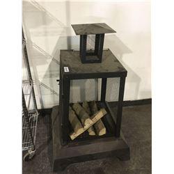 "Facto Outdoor Fireplace (26.38""L x 26.38""W x 40.55""H) (Floor model, no box)"