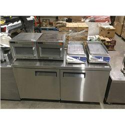 """Undercounter 2-Door Refrigerator - Model: FUC-60 (60"""" W x 29.5"""" L x 35"""" H)"""