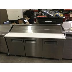 "3-Door Food Prep Table Refrigerated- Model: FSSU-72 (72"" W x 30.5"" L x 42.5"" H)"