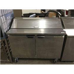"Beverage Air 2-Door Food Prep Table Refrigerated - Model: SPE48-12 (48"" W x 29"" L x 42"" H)"