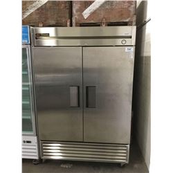 "True Two Door Solid Reach In Refrigerator - Model: T-49 (54"" W x 30"" L x 83"" H)"