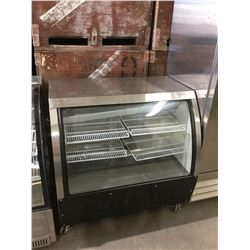 "48""Curved Glass Refrigerated Display Case"